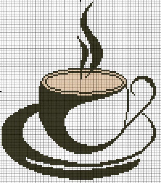 Вышивка крестом с кофе 700