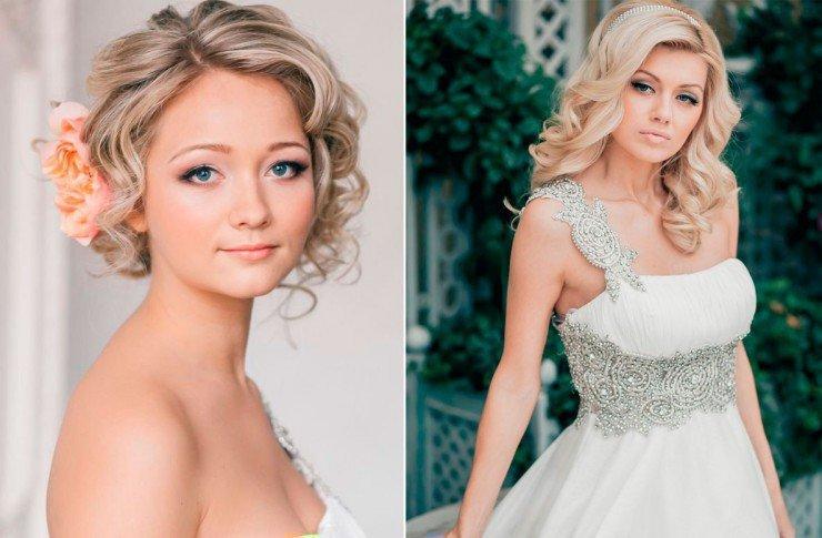 Свадебные прически с круглым лицом