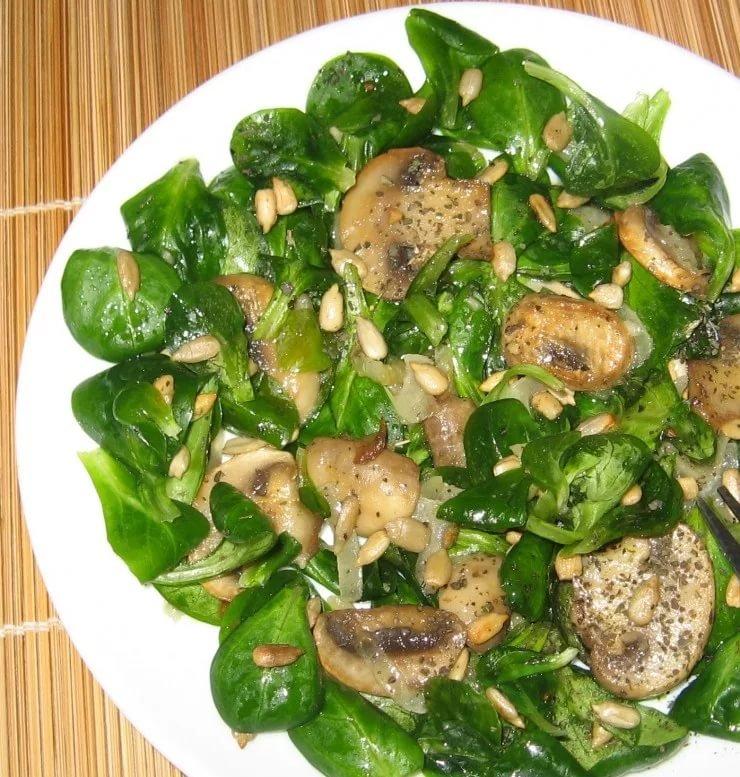Салат с шампиньонов рецепты с