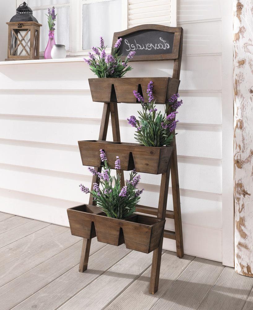 Этажерка для цветов из дерева фото