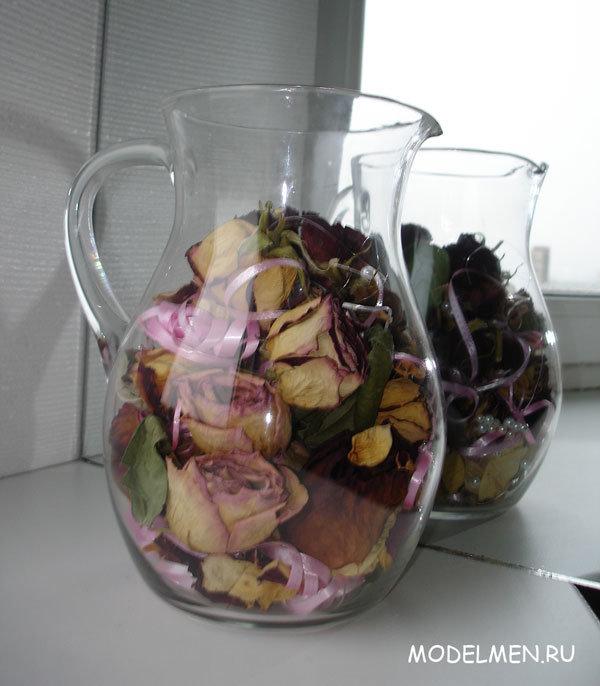 Сухие лепестки роз поделки своими руками 95