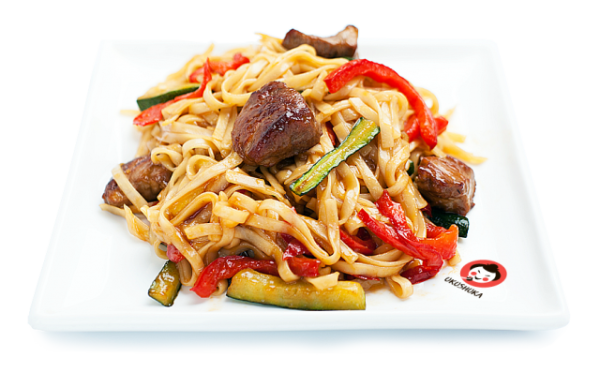 Рисовая лапша с свининой и овощами рецепт с пошагово
