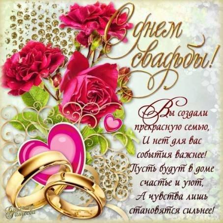 Глубокие поздравления в день свадьбы