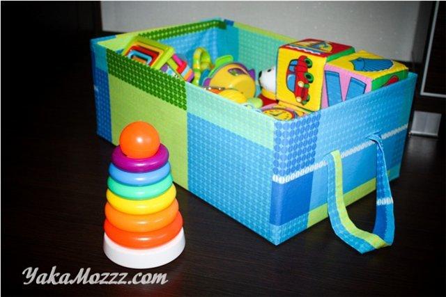Коробка для игрушек своими руками из картонной коробки