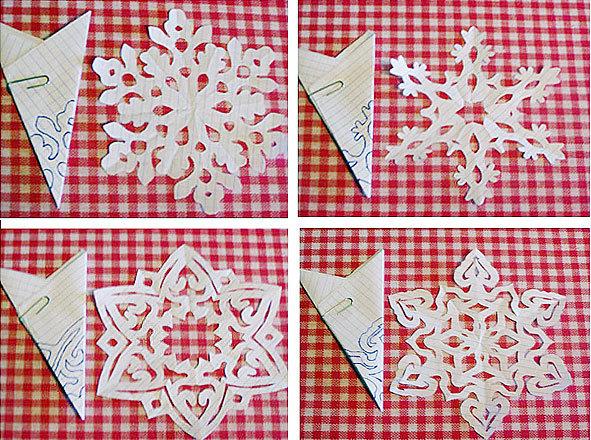 Как сделать снежинки из бумаги своими руками на новый год по этапно