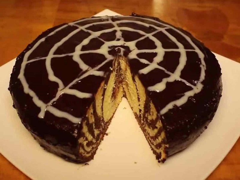Простой рецепт торта зебра в домашних условиях с пошагово