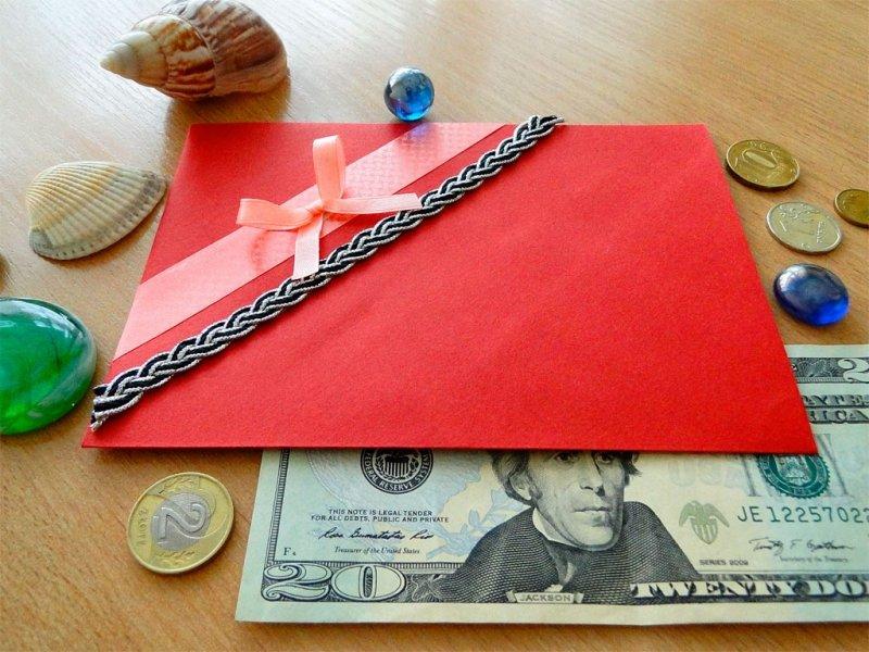 Как своими руками сделать конвертик для денег своими руками 24