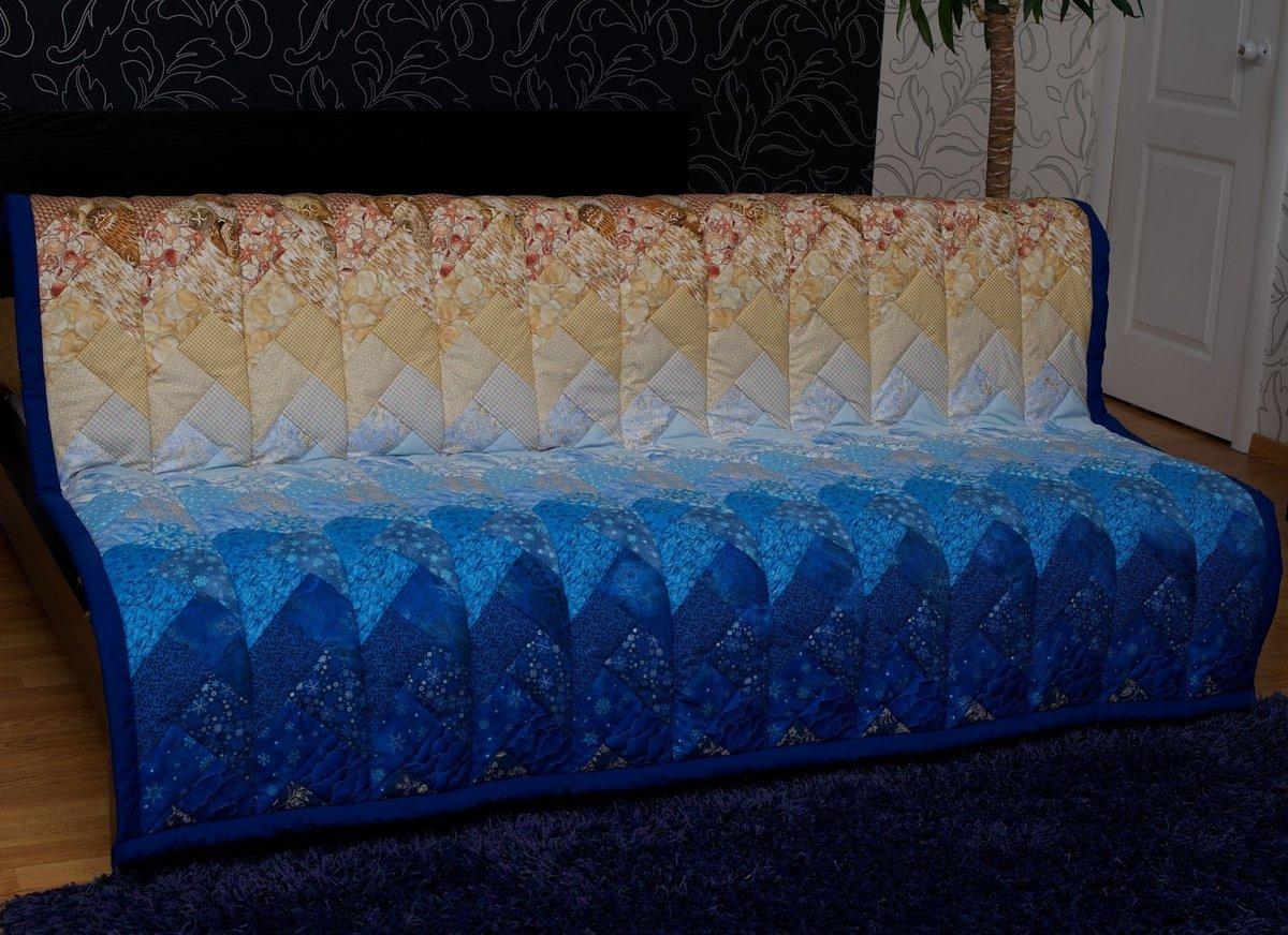 Схема шитья покрывала на диван
