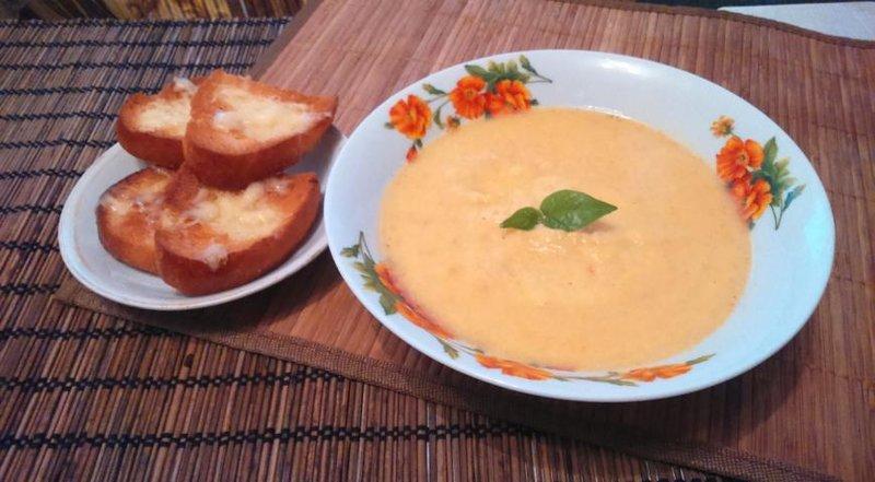 Пошаговый рецепт сырный суп пюре рецепт с