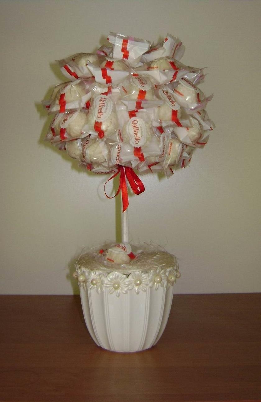 Букет из конфет Раффаэлло. Мастер-класс с пошаговыми фото 4