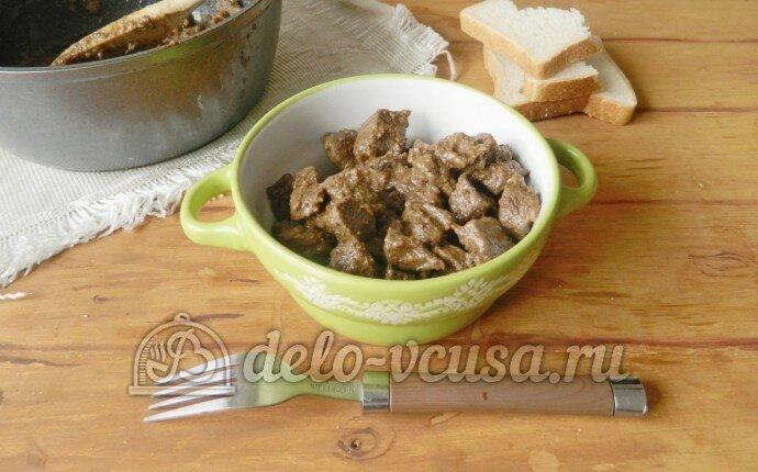 Рецепты печенки свиной тушеной