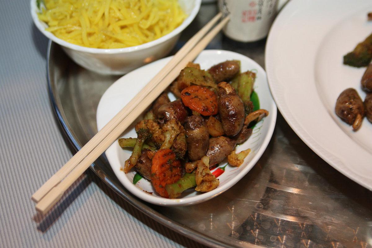 Рецепт жарки куриных сердечек