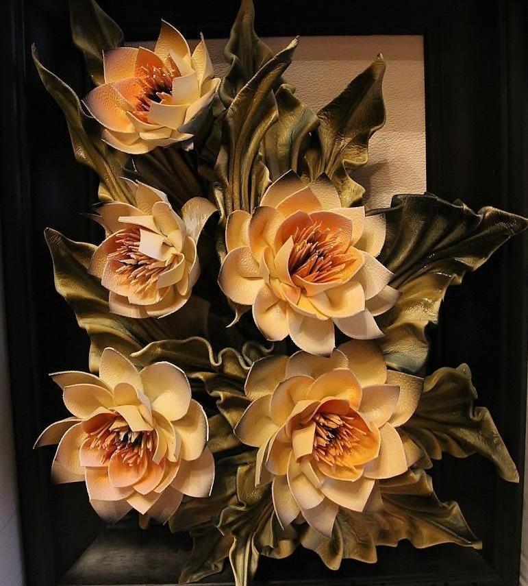 Объемные картины цветы своими руками 95