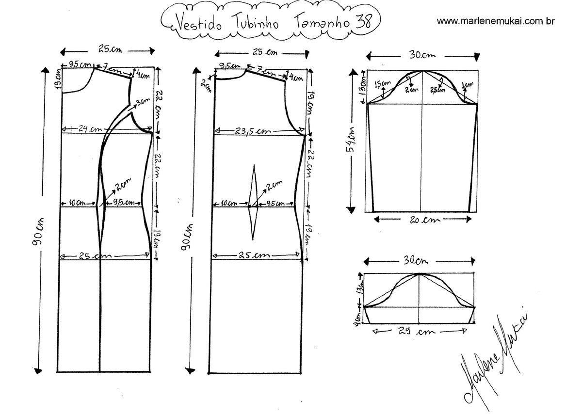 Как сделать выкройку платья для 54 размера 679