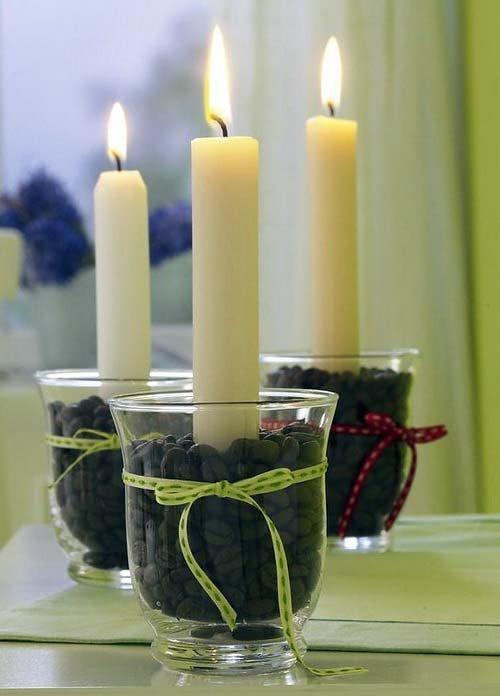 Свеча с декором своими руками