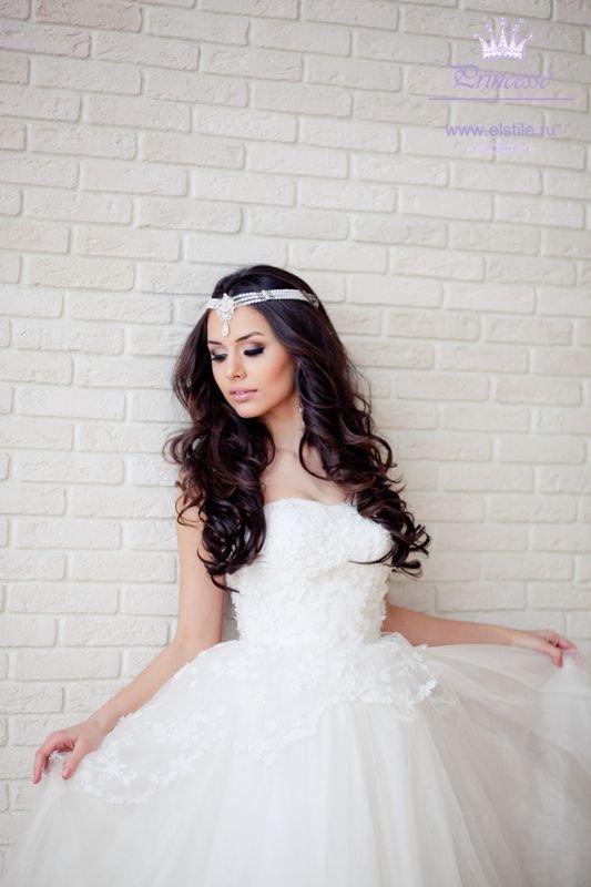 свадебные прически с тиками