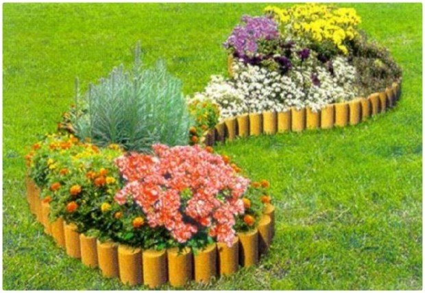 Оформление садового участка цветами