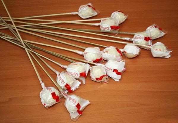 Букет из конфет изготовить своими руками