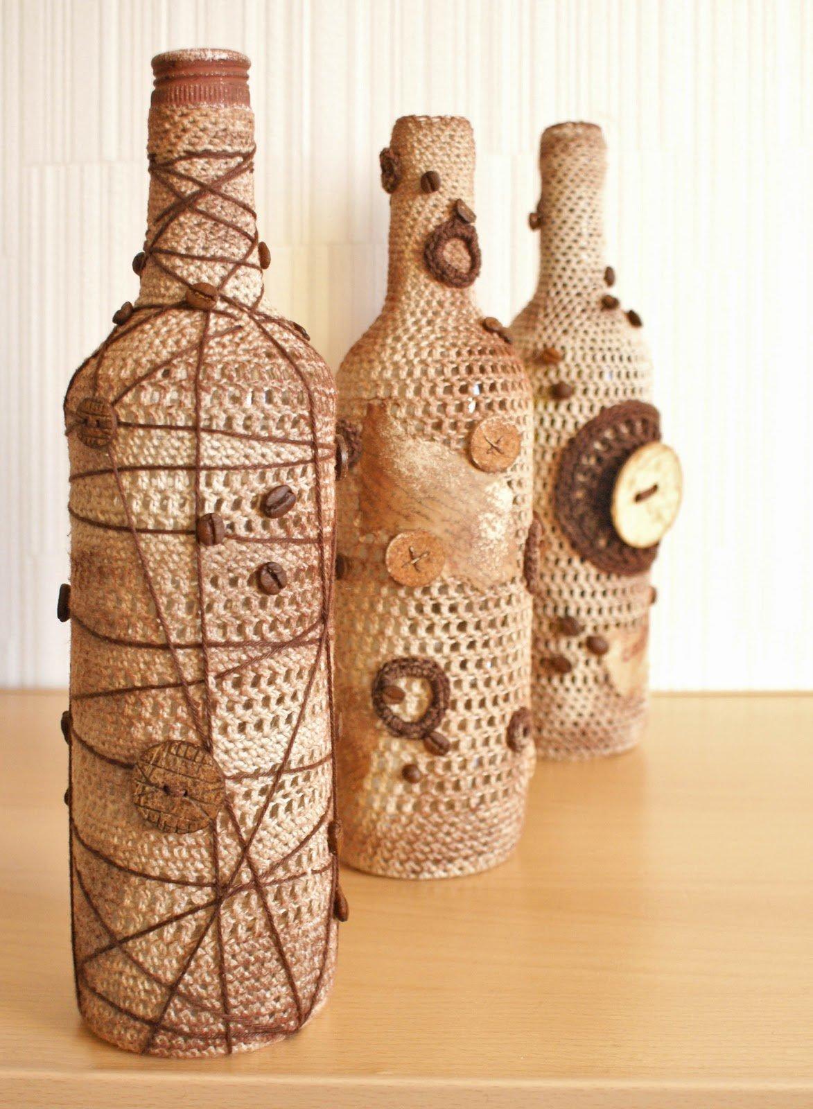 Бутылки своими руками жгутами 100