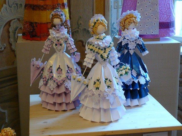 Поделки куклы с оригами 11