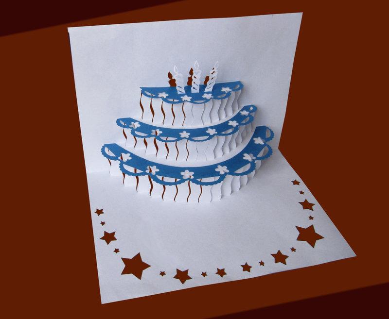 Объёмные открытки своими руками на день рождения шаблон