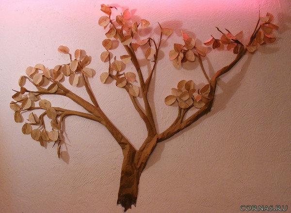 Как сделать дерево из бумаги на стену