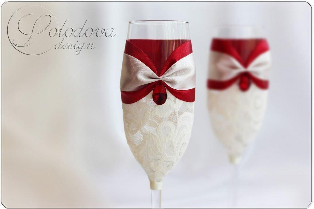 Для свадьбы своими руками бело-красного цвета 236
