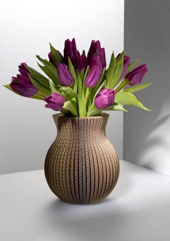 Как сделать вазочку с цветами 710