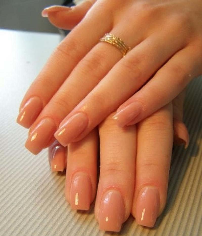 Наращивание ногтей в один цвет