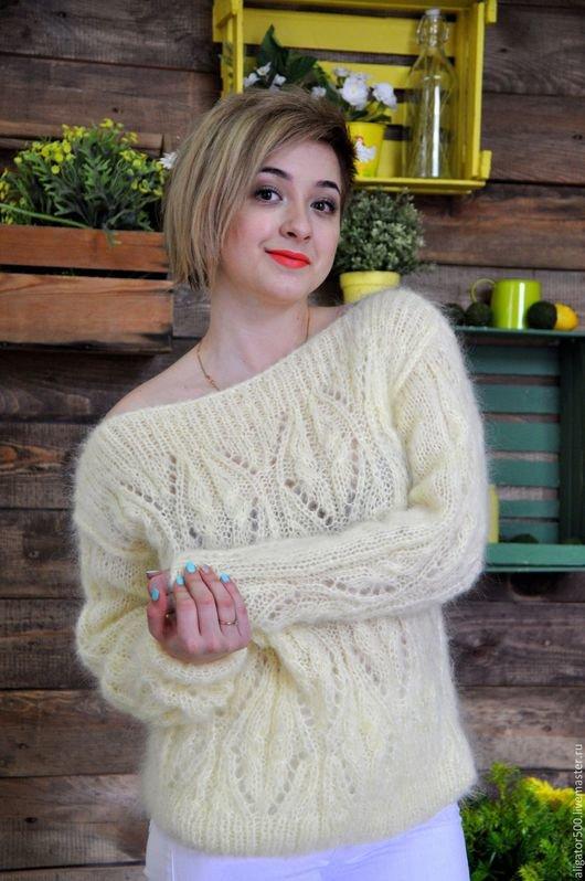Вязание из мохера свитеров 617