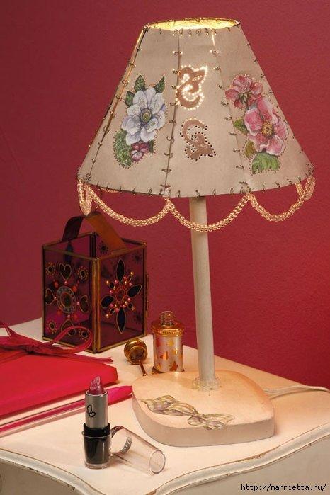 Из чего сделать абажур на настольную лампу своими руками