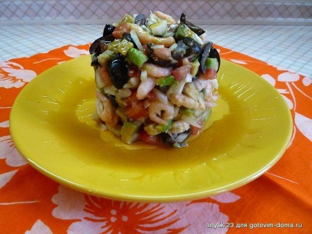 Салат из креветок и авокадо соус