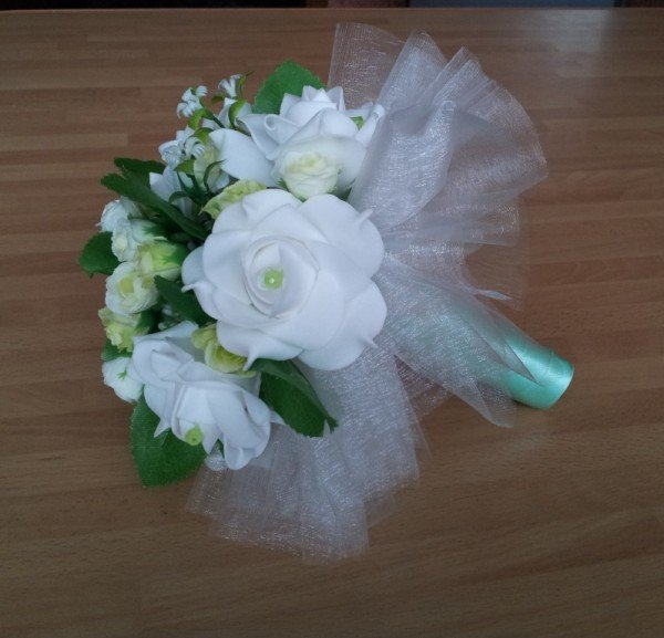 Фото букета невесты из искусственных цветов