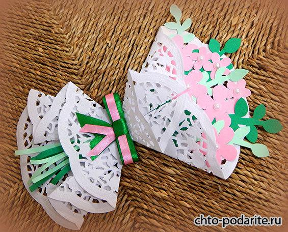 Поделки из ажурных бумажных салфеток