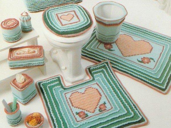 Вязание ковриков в ванную и туалет 663