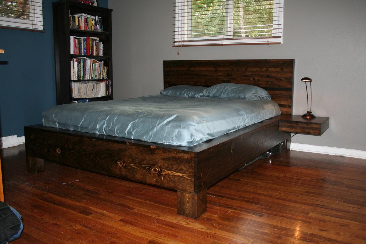 Спальные кровати своими руками из дерева