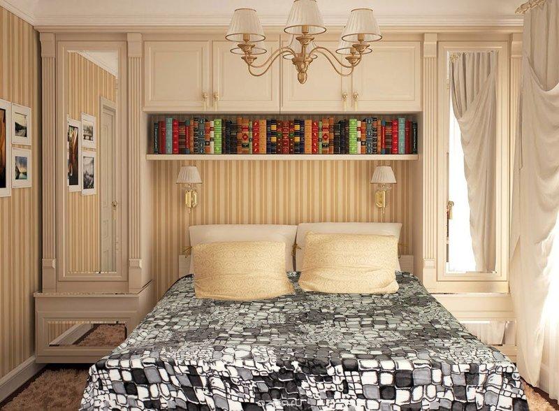 Спальня маленькая интерьер дизайн маленькая комната