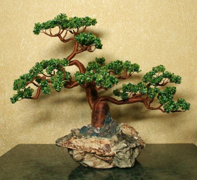 Деревца из бисера своими руками