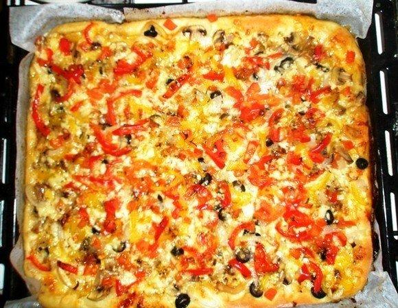 Как приготовить пиццу в домашних условиях в духовке пошагово фото