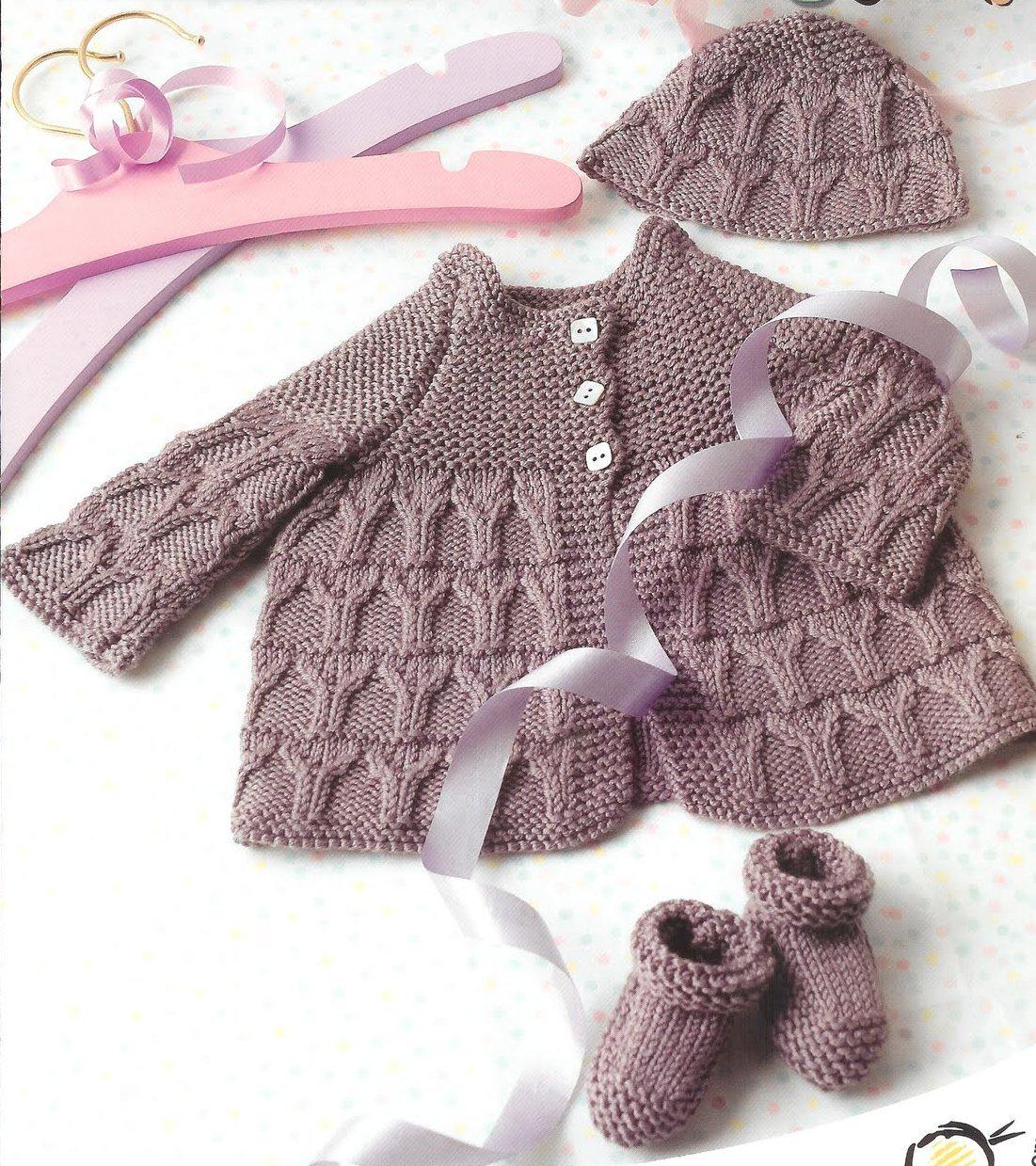 Модное вязание для новорожденных спицами 10