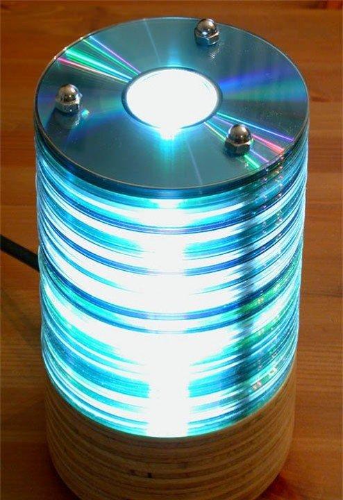 Как сделать люстру своими руками из дисков