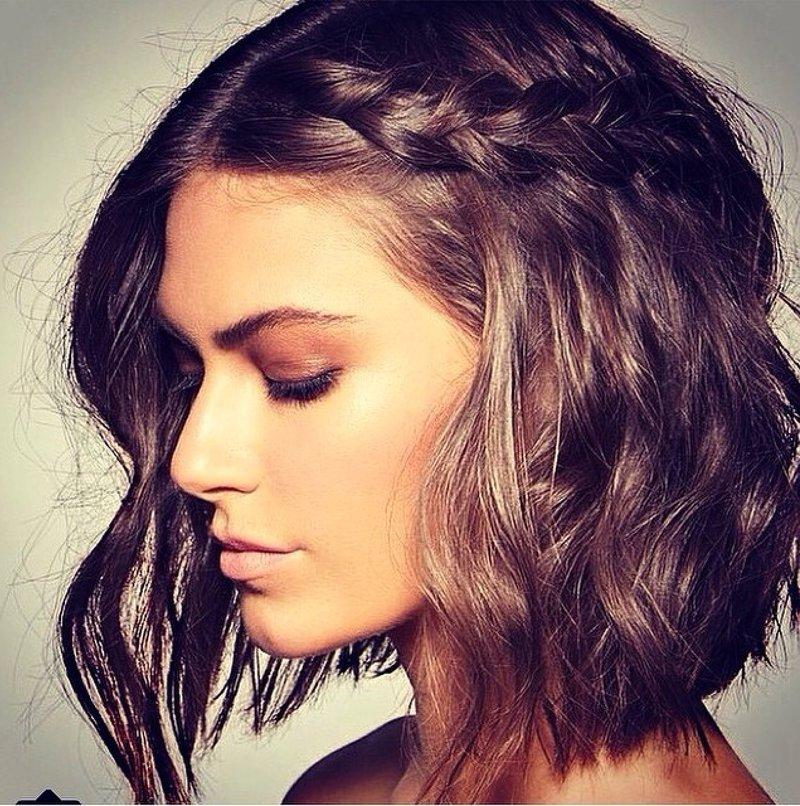 Прически с  на короткие волосы