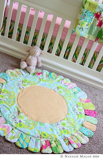 Круглый коврик детский своими руками