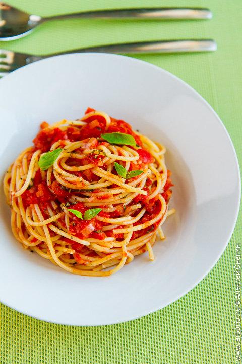 Рецепты спагетти с соусом с помидорами