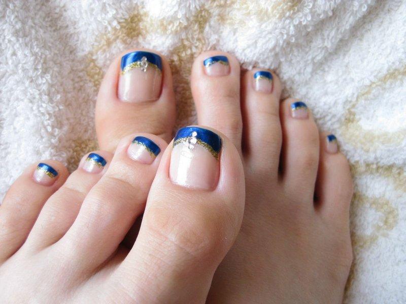 Дизайн ногтей шеллак на ногах