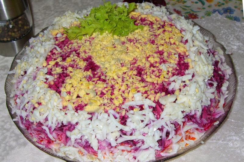 Как сделать салат шубу красиво