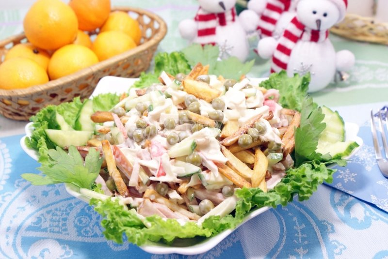 Рецепт новогодних салатов 2016 с фото