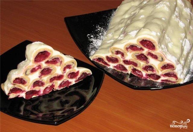 Дрова под снегом торт рецепт с фото