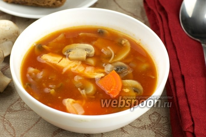 Суп-пюре с шампиньонами и курицей рецепт пошагово
