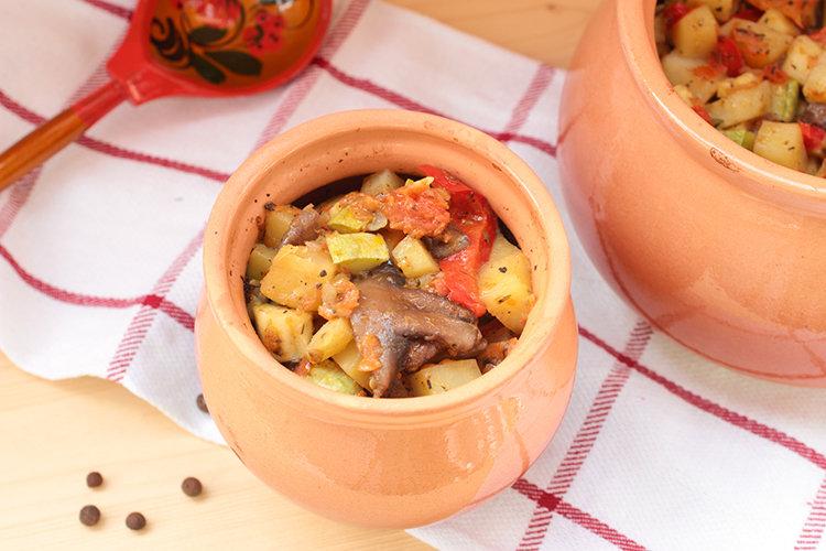 Блюда в горшочках постные в духовке рецепты пошагово с